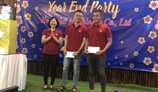 NAM VIET REWARD TO EXCELLENT STAFF FOR THEIR JOB IN YEAR 2018