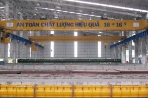 Cầu trục dầm đôi 16 + 16 tấn