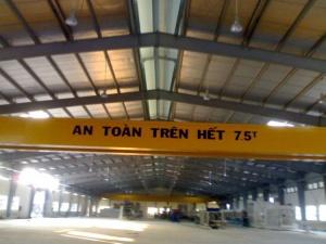 Cầu trục dầm đôi 7.5 tấn